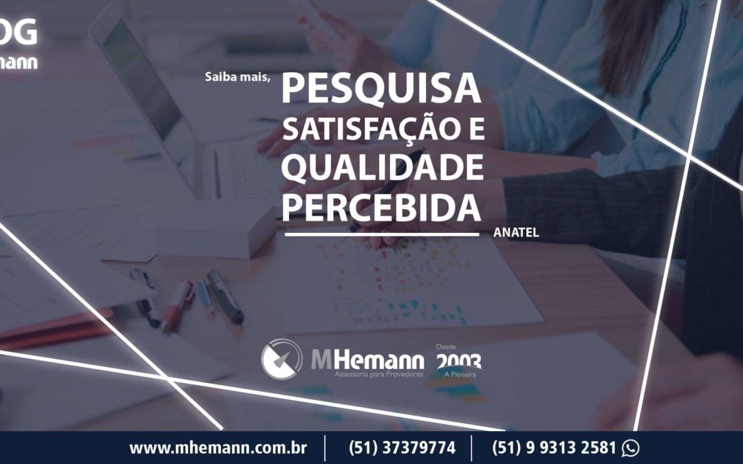 Provedores tem boa avaliação na 4ª Pesquisa de Satisfação e Qualidade Percebida realizada pela Anatel