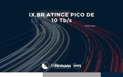 IX.BR bate recorde de trafego atingindo pico de 10Tb/s