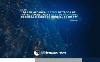 Brasil registra recorde de 12,8Tb/s de troca de tráfego no IX.br
