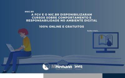 NIC.br e FGV disponibilizam cursos online e gratuitos sobre comportamento e responsabilidade no ambiente digital. Saiba mais