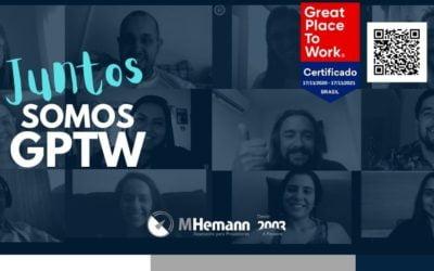 MHemann recebe certificação da Great Place To Work – GPTW Brasil. Saiba mais…