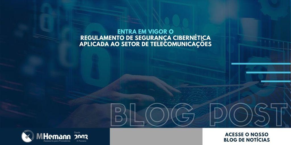 Regulamento de Segurança Cibernética Aplicada ao Setor de Telecomunicações