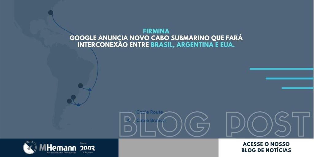 Firmina. Google anuncia novo Cabo Submarino